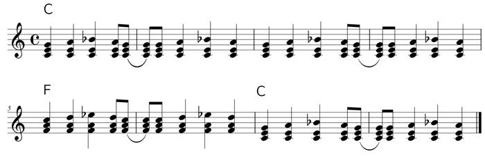 ロックンロールパターン(トップノートの動き)