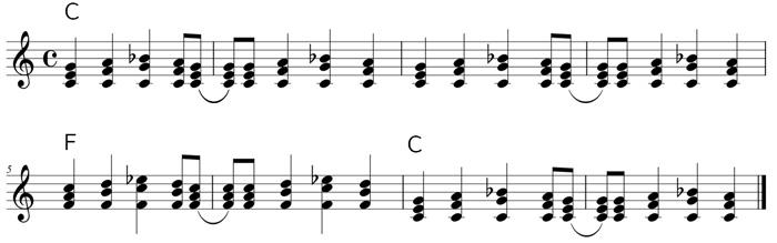 ロックンロールパターン(内声も一緒に動く)