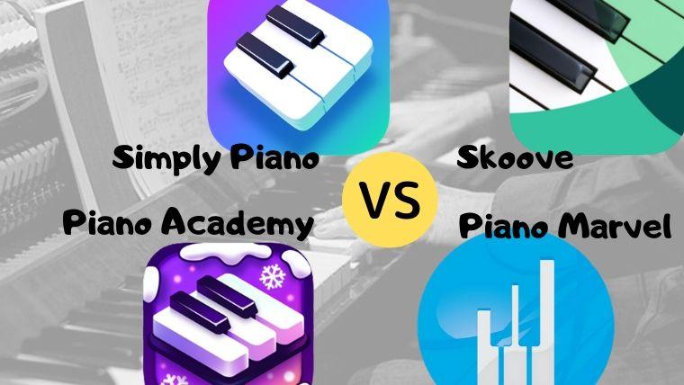 4つのピアノ練習アプリ比較