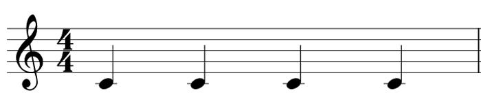 パターン1 4音符のみ
